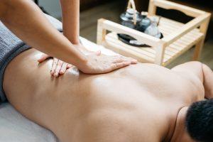 Man having a back and shoulder massage